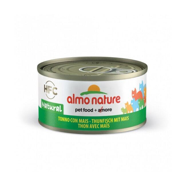 Almo Nature Pâtée pour chat Almo Nature HFC Natural - Lot de 6 x 70 g Thon avec poulet et fromage