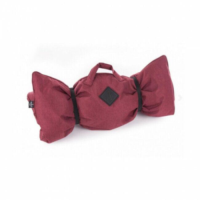 Martin Sellier Plaid canapé ou voiture Croisette pour chien Coloris Rouge - 115 x 70 cm
