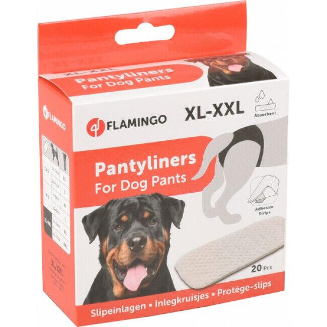 Flamingo Protèges slip taille XL/XXL pour slip hygiénique pour chienne x 20