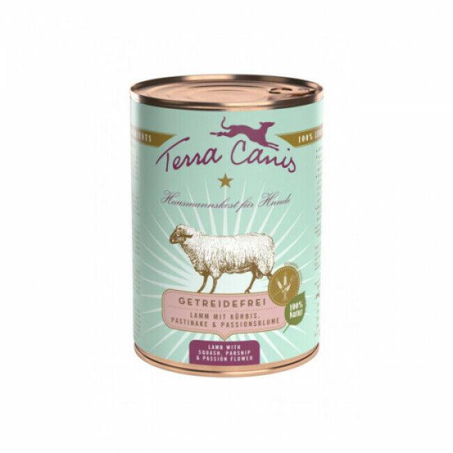 Terra Canis Pâtée naturelle sans céréales Terra Canis pour chien à l'Agneau - Boîte 400 g
