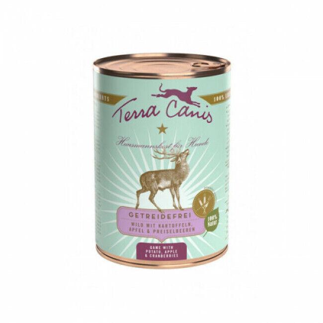 Terra Canis Pâtée naturelle sans céréales Terra Canis pour chien au Gibier - Boîte 400 g
