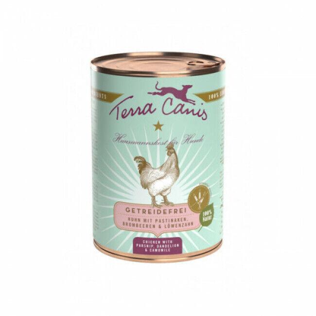 Terra Canis Pâtée naturelle sans céréales Terra Canis pour chien au Poulet - Boîte 400 g