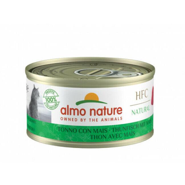 Almo Nature Pâtée pour chat Almo Nature HFC Natural - Lot de 6 x 70 g Thon avec maïs