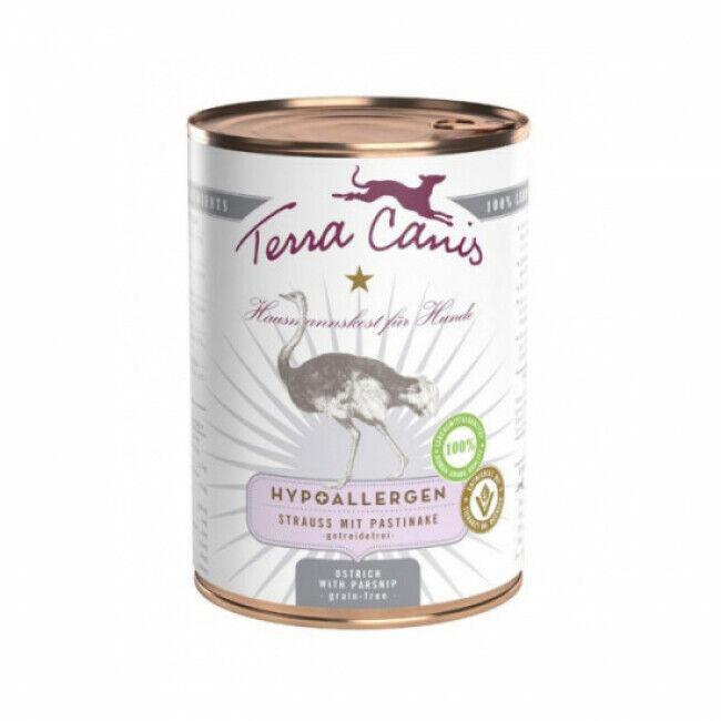 Terra Canis Pâtée sans céréales Terra Canis Hypoallergénique à l'autruche pour chien - Boîte de 400 g