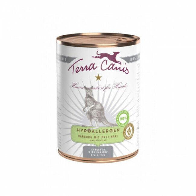 Terra Canis Pâtée sans céréales Terra Canis Hypoallergénique pour chien au kangourou - Boîte de 400 g