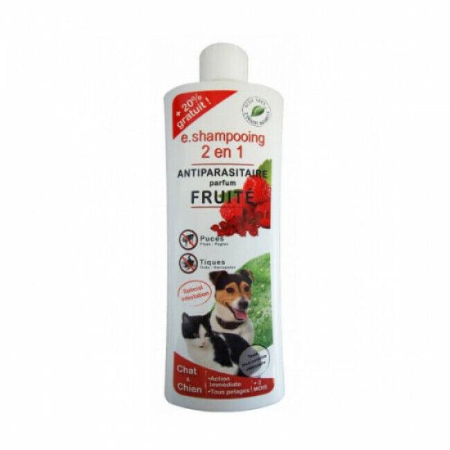 Agecom Shampoing antiparasitaire pour chien et chat fruité Essential 2 en 1 Agecom flacon 250 ml