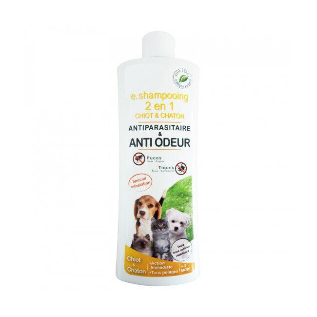 Agecom Shampoing antiparasitaire 2 en 1 pour chiot et chaton Agecom flacon de 250 ml