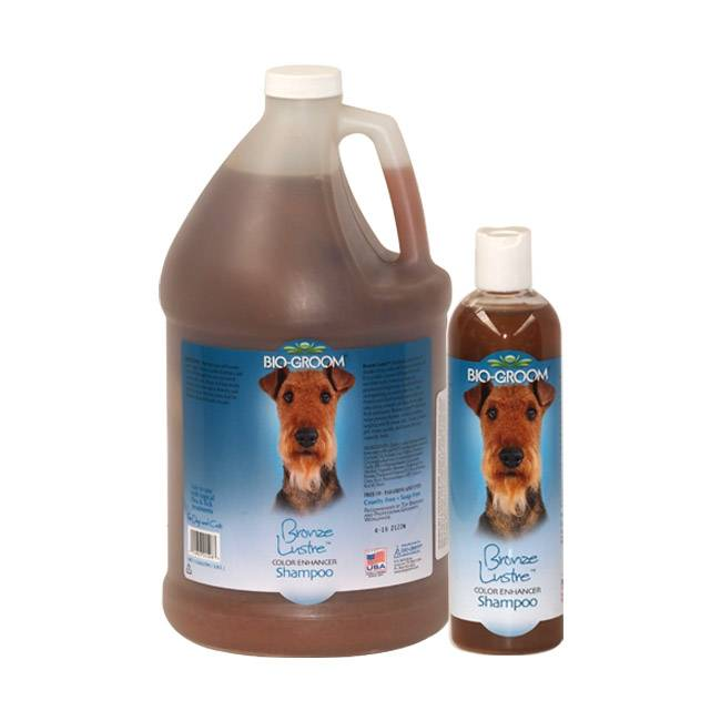 Bio Groom Shampoing Bio Groom colorant Bronze lustré pour poil chien et chat 3.8 Litres