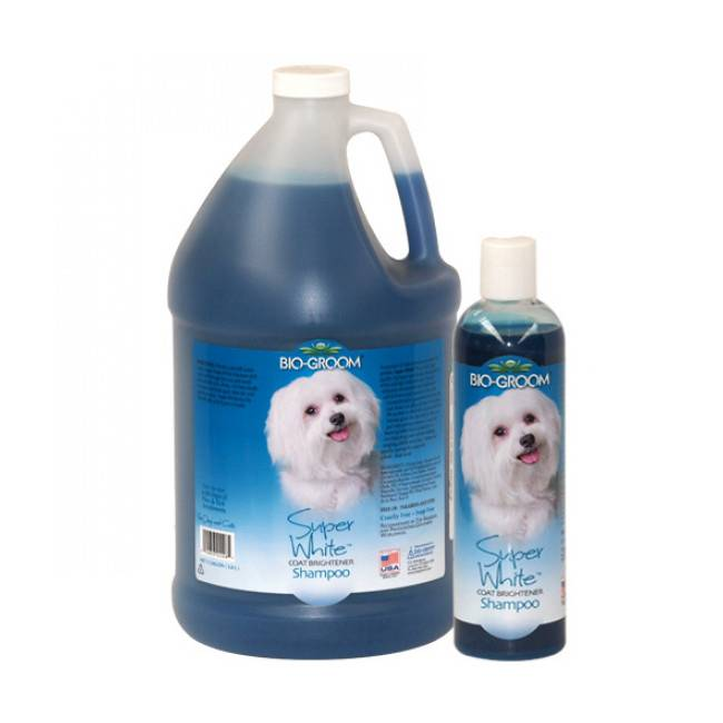 Bio Groom Shampoing bio groom teintant Super White pour chien et chat 355 ml
