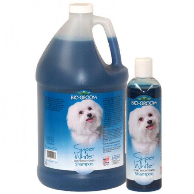 Bio Groom Shampoing bio groom teintant Super White pour chien et chat 3,8 L