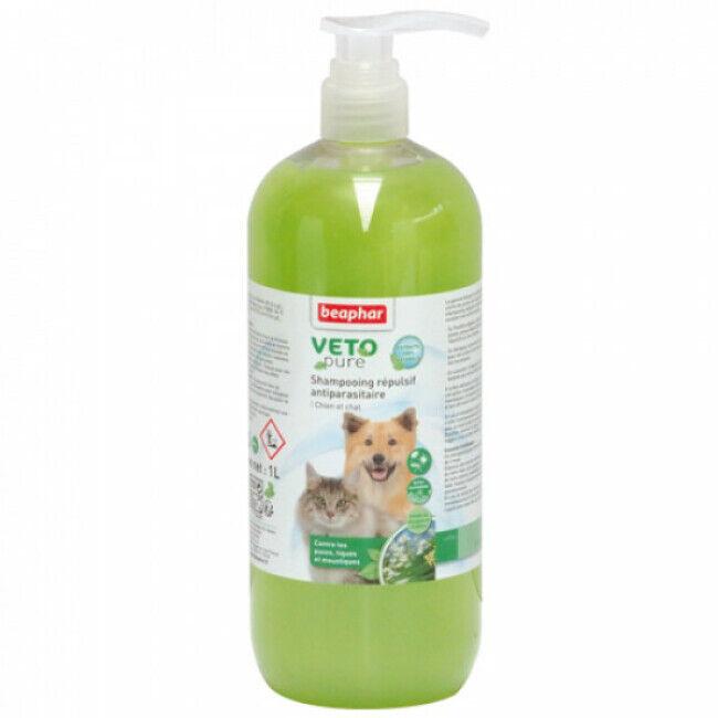 Beaphar Shampoing insectifuge Véto Pure Beaphar pour chien et chat 1 L
