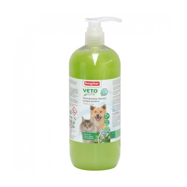 Beaphar Shampoing insectifuge Véto Pure Beaphar pour chien et chat 1 L