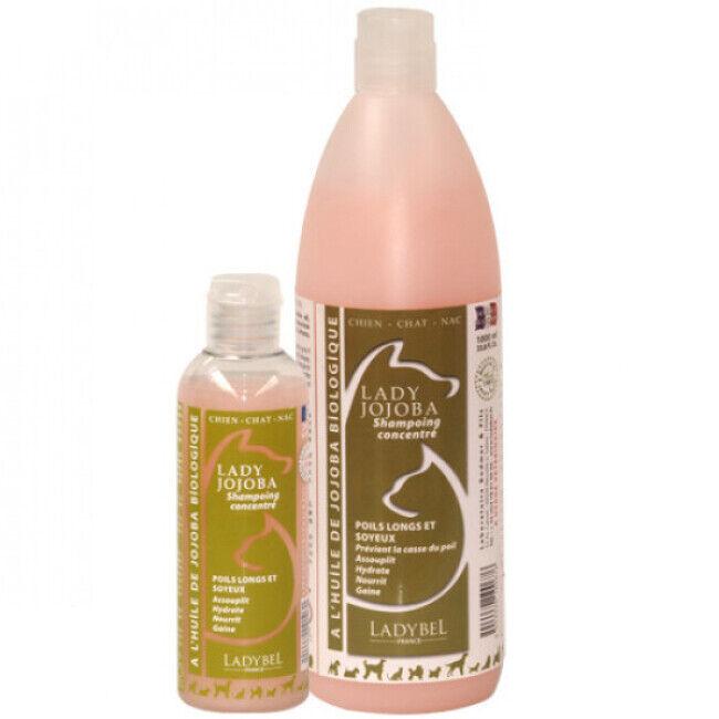 Ladybel Shampoing Ladybel Jojoba fourrure précieuse pour chien et chat aux huiles végétales 1 L