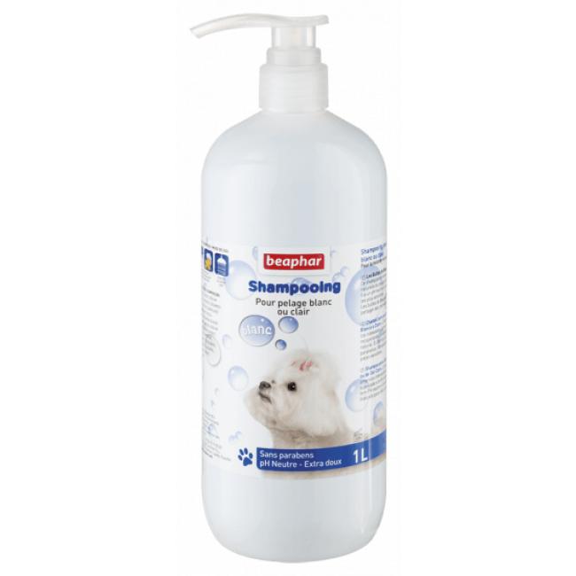 Beaphar Shampoing pour chien pour pelage blanc Beaphar 1 litre