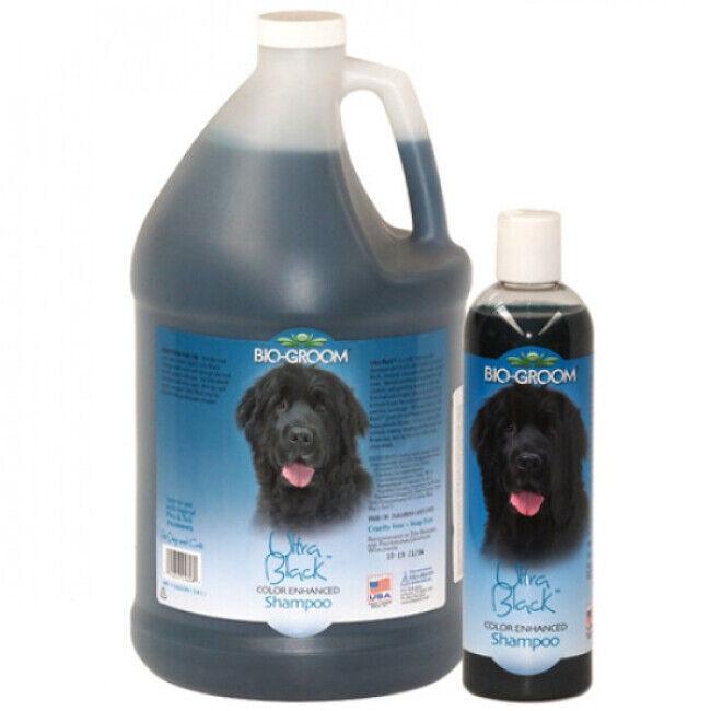 Bio Groom Shampoing Bio Groom colorant Ultra Black pour poil noir de chien et chat 3.8 Litres
