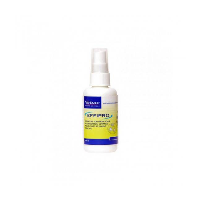 Virbac Soin antiparasitaire en spray pour chiens et chats Effipro 2,5 mg/ml Spray 100 ml
