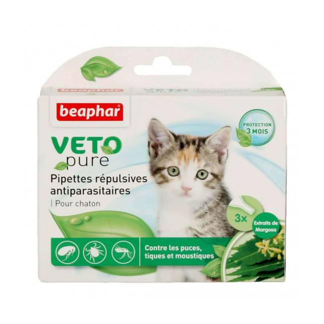 Beaphar Spot On Véto-Nature insectifuge pour chaton (3 pipettes 0.4 ml)