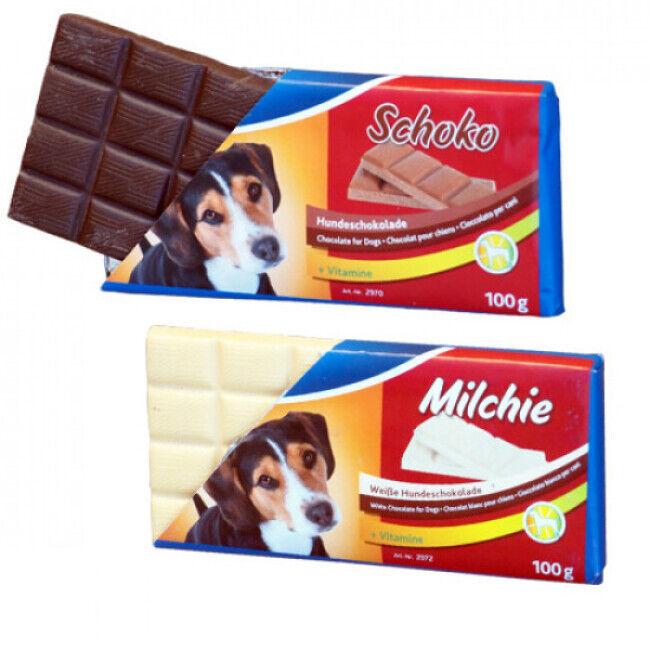 Trixie Tablette de chocolat Milchie pour chien 100 g (DLUO 6 mois)