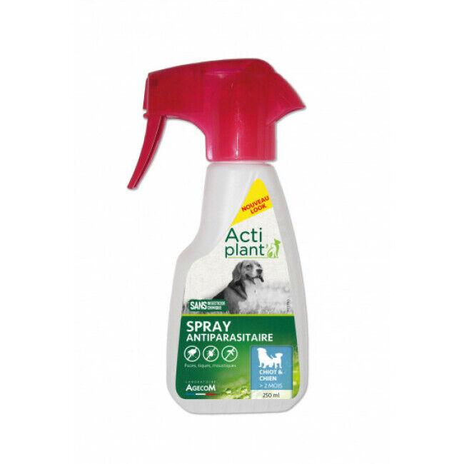 Agecom Traitement antiparasitaire pour chien Eco Spray 250 ml