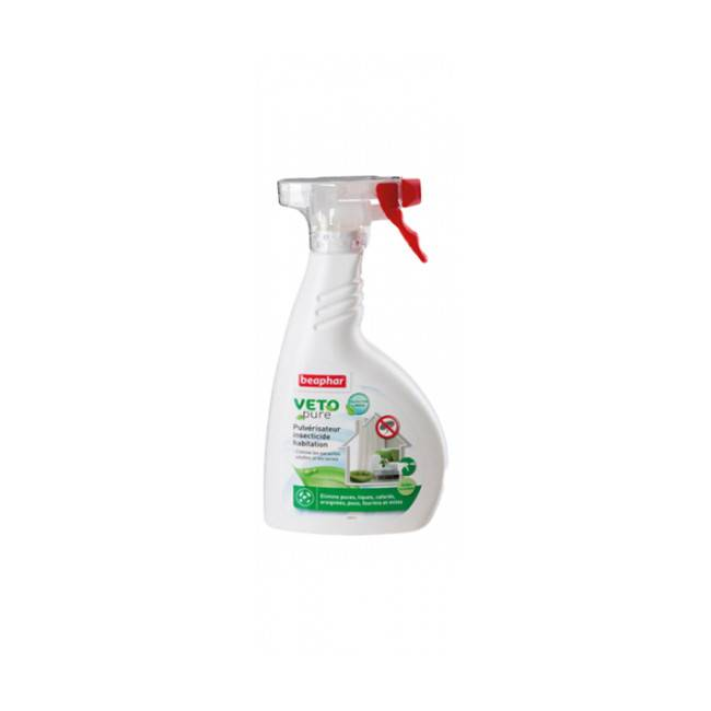 Beaphar Pulvérisateur insecticide larvicide antiparasitaire pour habitation Véto Pure 400 ml