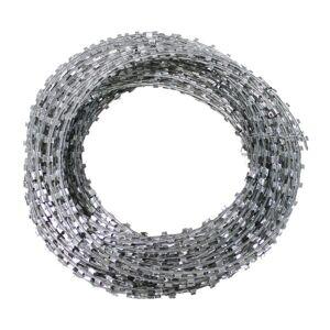 Unbekannt Rouleau de fil barbelé en acier galvanisé 50 m
