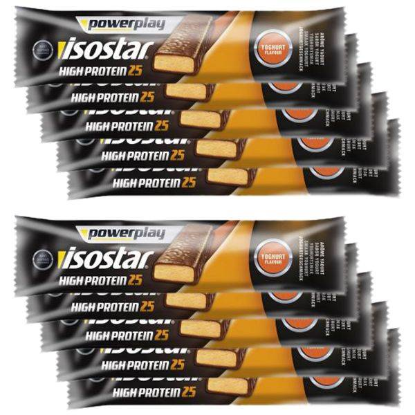 Isostar High Protein 25 Powerplay Isostar yaourt&fruits 35 g – 10 barres