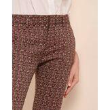 REIKO Pantalon cigarette lizzy fancy - burgundy