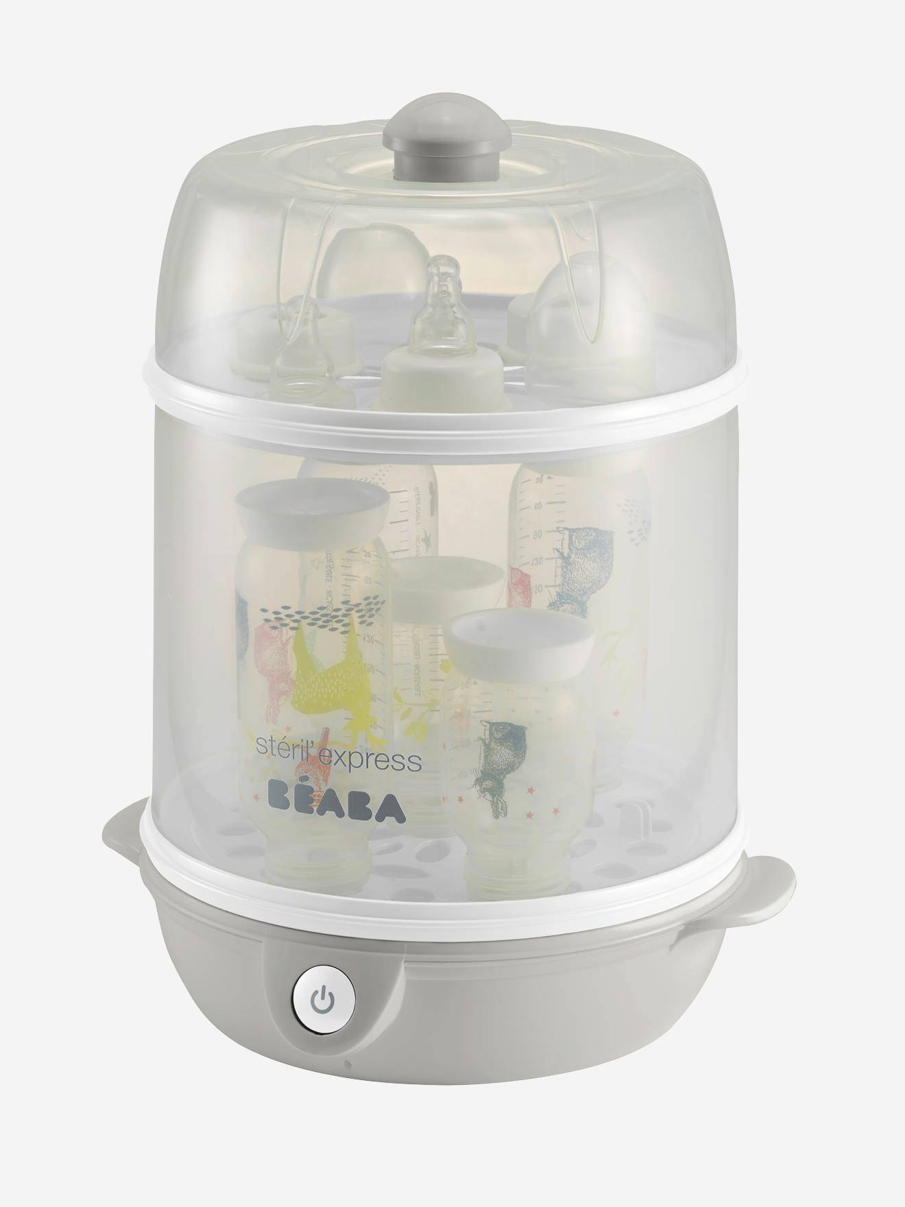beaba stérilisateur stéril express evolutif beaba gris/blanc