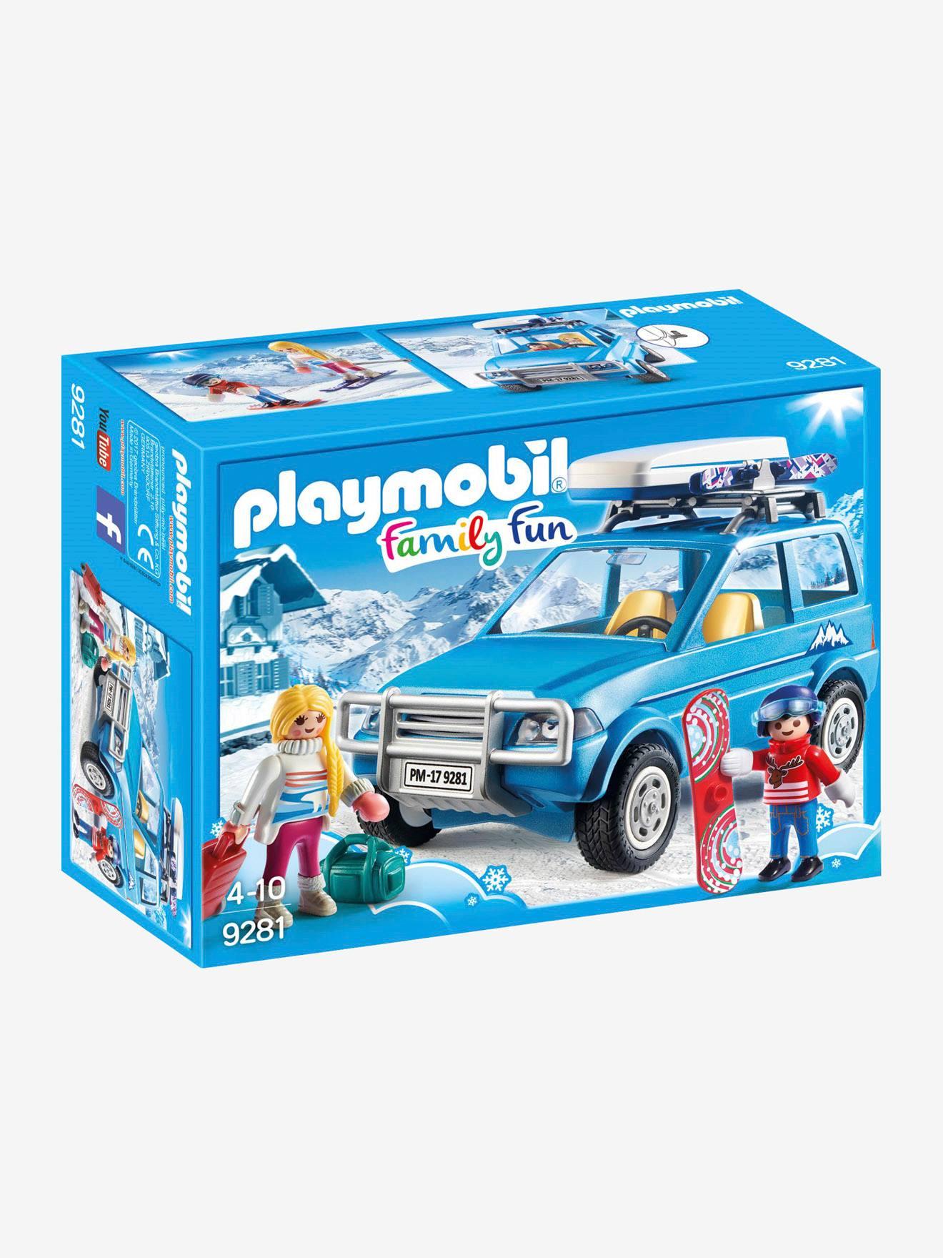 playmobil 9281 4x4 avec coffre de toit playmobil bleu