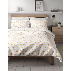 Marks & Spencer Parure de lit en coton à imprimé orange - Orange - Lit super king size (180 cm x 220cm)