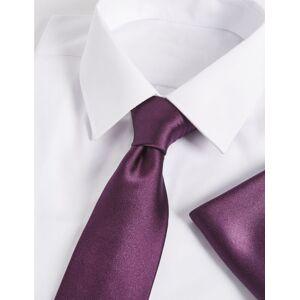 Marks & Spencer Ensemble cravate et carré de poche 100% soie - Noir rouge