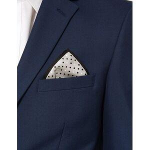 Marks & Spencer Mouchoir de poche carré 100% soie à pois - Gris