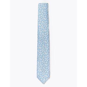 Marks & Spencer Cravate fine tissée pour enfant à motif marguerites - Bleu - M