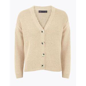 Marks & Spencer Gilet coupe décontractée 100% coton à motif texturé - Beige - L