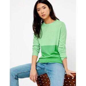 Marks & Spencer Pull 100% laine de mérinos à motif color block - Vert - 50