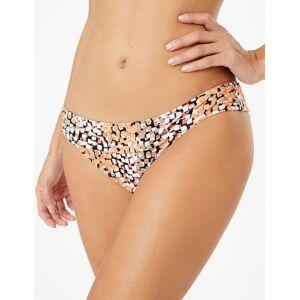 Marks & Spencer Tanga de bikini à col roulé avec imprimé - Jaune - 40