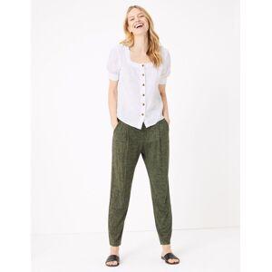 Marks & Spencer Pantalon fuselé longueur cheville en jersey - Kaki - 44