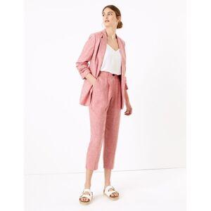 Marks & Spencer Pantalon fuselé 7/8 en lin - Jaune - 48