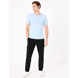 Marks & Spencer Pantalon cargo élégant coupe slim en coton extensible - Noir - 36 (71cm de tour de taille)