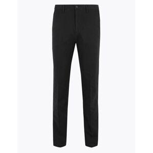Marks & Spencer Grandes tailles – Chino coupe standard en tissu extensible - Noir - 44 (86cm de tour de taille)