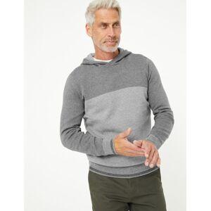 Marks & Spencer Sweat en maille de coton à capuche - Gris - XL