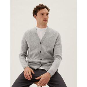 Marks & Spencer Gilet 100% laine d'agneau à col en V - Gris - XXXXL