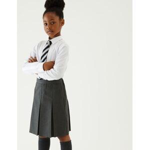 Marks & Spencer Jupe coupe cintrée à plis permanents - Gris - 10-11 ans