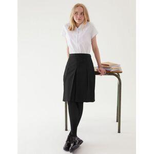 Marks & Spencer Jupe coupe cintrée à plis permanents - Noir - 7-8 ans