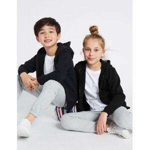 Marks & Spencer Sweat unisexe en coton à capuche - Noir - 8-9 ans