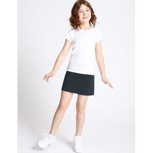 Marks & Spencer Jupe-short de sport en coton extensible pour fille - Bleu - 14-15 ans