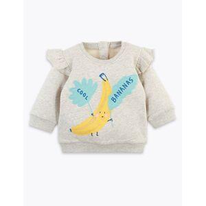 Marks & Spencer Sweat en coton à motif palmier (du 0 au 16ans) - Gris - 18-24 mois