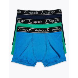 Marks & Spencer Lot de 3boxers en coton et Lycra™ (du 6 au 16ans) - Bleu - 6-7 ans