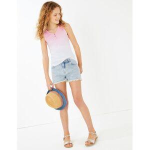 Marks & Spencer Short en jean à motif citron brodé (du 6 au 16ans) - Blanc - 10-11 ans