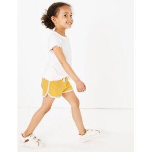 Marks & Spencer Short uni en coton (du 2 au 7ans) - Jaune - 6-7 ans